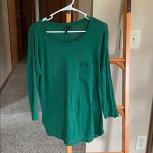 Emerald Green Scoop Neck Top